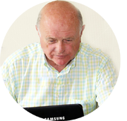 Пенсионер в интернете